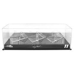 Denny Hamlin Fanatics Authentic 11 Joe Gibbs Racing 3 Car 1/24 Scale Die Cast Display Case With Platforms