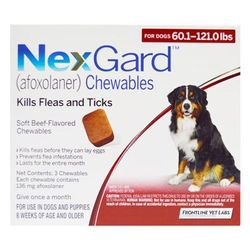 Nexgard For Dogs 25.1 - 50 Kg (Red) 6 Chews