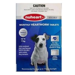 Nuheart Generic Heartgard for Small Dogs Upto 25lbs (Blue) 12 Tablet