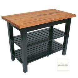 "John Boos OC3625-2S American Heritage Oak C Table, 2 Shelves, 36 x 35"" H, Alabaster"