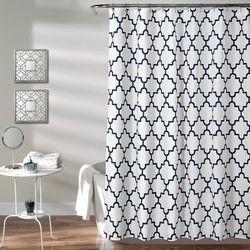 Bellagio Shower Curtain Navy 72X72 - Lush Decor 16T002797
