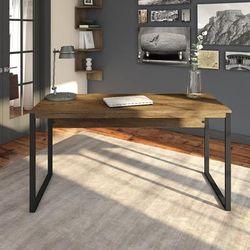 Latitude 60W Writing Desk in Rustic Brown Embossed - Bush Furniture LAD160RB-03