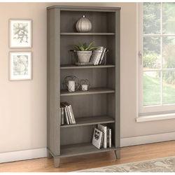 Somerset 5 Shelf Bookcase in Ash Grey - Bush Furniture WC81665