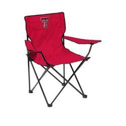 Logo Red NCAA Texas Tech Red Raiders Quad Chair