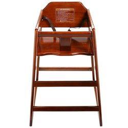 "GET HC-100-MOD-W-1 29"" High Chair w/ Waist Strap - Wood, Walnut"