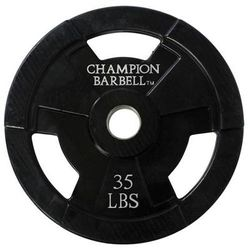 Champion Barbell Rubber Coated Olympic Grip Plate (Sold Individually)