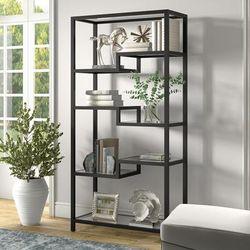 Johann Blackened Bronze Bookcase - Hudson & Canal BK0451