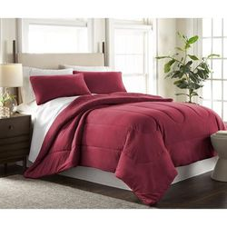 Micro Flannel Print Sheet Set by Shavel Home Products in Wine (Size TWIN)
