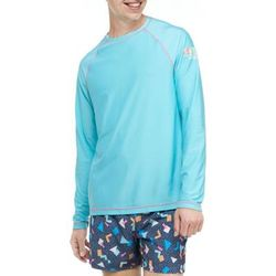 Cabana by Crown & Ivy™ Blue Radience Blue Radiance Long Sleeve Rash Guard