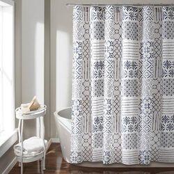 Monique Shower Curtain Blue 72X72 - Lush Decor 16T002703