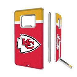 Kansas City Chiefs Striped Credit Card USB Drive & Bottle Opener