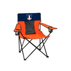 Logo Orange NCAA Illinois Fighting Illini Elite Chair