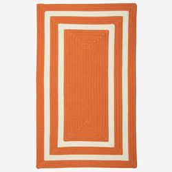 Double Border Rug by Colonial Mills in Rust (Size 3'W X 5'L)