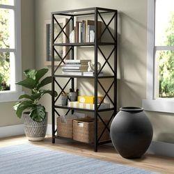 Celine Blackened Bronze Bookcase - Hudson & Canal BK0448