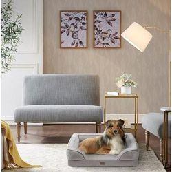 Martha Stewart Bella Pet Couch in Grey - Olliix MS63PC5358M