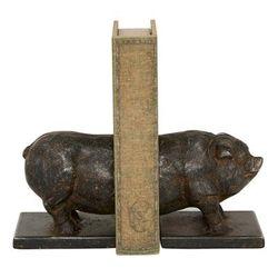 Grey Iron Farmhouse Bookends, 5x5x4 - 89535