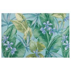 """""""Liora Manne Illusions Tropical Leaf Indoor/Outdoor Mat Aqua 4'10""""x7'6"""" - Trans Ocean ILU58330804"""""""