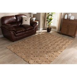 Baxton Studio Sienna Modern and Contemporary Natural Brown Hand-Stitched Hemp Area Rug - Wholesale Interiors Sienna-Natural-Rug