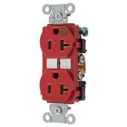 HUBBELL WIRING DEVICE-KELLEMS 8300RED 20A Duplex Receptacle 125VAC 5-20R RD