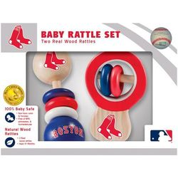 Boston Red Sox Infant 2-Pack Wood Rattle Set