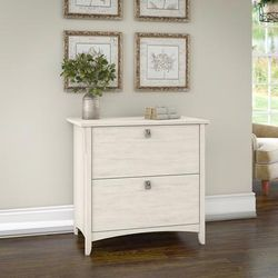 Bush Furniture SAF132AW-03 - Salinas Lateral File Cabinet in Antique White