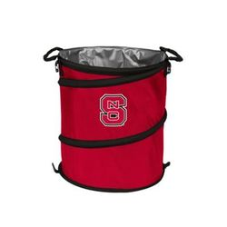 Logo Bright Red NCAA NC State Wolfpack Collapsible 3 in 1 Cooler Hamper