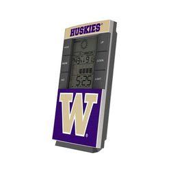 Washington Huskies End Zone Digital Desk Clock