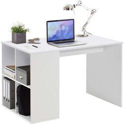 Schreibtisch mit Regal 117×73×75 cm Weiß - FMD