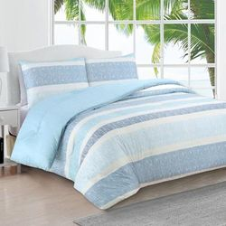 Estate Collection Delray Comforter by American Home Fashion in Blue (Size KING)