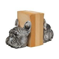 Bruno (Set of 2) 5L x 5W Silver American Bulldog Bookends - Mercana 68925