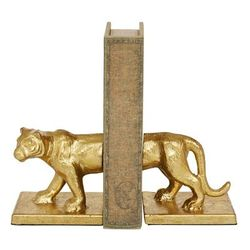 Gold Iron Glam Bookends, 5x4x4 - 89522