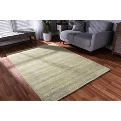 Baxton Studio Leora Modern and Contemporary Lime Green and Grey Hand-Tufted Viscose Blend Area Rug - Wholesale Interiors Leora-Lime/Silver-Rug