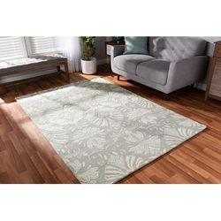 Baxton Studio Morain Modern and Contemporary Grey Hand-Tufted Wool Area Rug - Wholesale Interiors Morain-Taupe-Rug