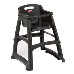 Rubbermaid FG780608BLA Stackable High Chair w/ Waist Strap - Plastic, Black