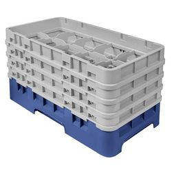 Cambro 10HS800186 Camrack Glass Rack - (4)Extenders, 10 Compartments, Navy Blue