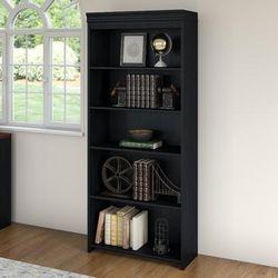 Fairview 5 shelf Bookcase in Antique Black - Bush Furniture WC53965-03
