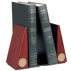 Notre Dame Fighting Irish Logo Bookends - Gold