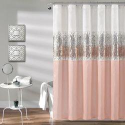 Night Sky Shower Curtain White/Blush 72X72 - Lush Decor 16T003956