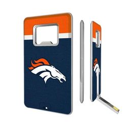 Denver Broncos Striped Credit Card USB Drive & Bottle Opener