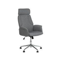 Komfortabler Bürostuhl Grau Polserbezug Höhenverstellbar