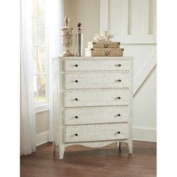 Ella Solid Wood Five Drawer Chest in White Wash - Modus 2G4384