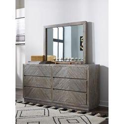 Herringbone Solid Wood Six Drawer Dresser in Rustic Latte - Modus 5QS382