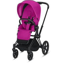 Cybex ePriam Stroller - Matte Black/Fancy Pink