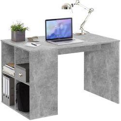 Schreibtisch mit Regal 117×73×75 cm Betonoptik - FMD