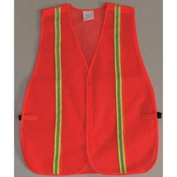 ZORO SELECT 53YM01 Back Stp Vest, Unrated Orange/Red, Univ