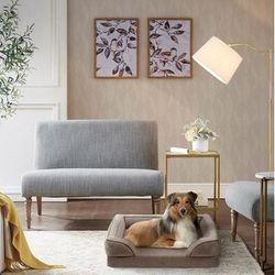 Martha Stewart Bella Pet Couch in Brown - Olliix MS63PC5359M