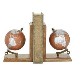 Copper Wood Traditional Bookends, 7x6x4 - 24817