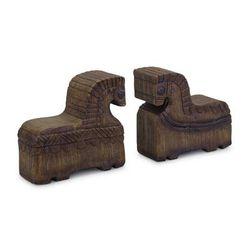 """Horse Bookend (Set of 2) 7""L x 6.75""H Resin - Melrose International 82718DS"""