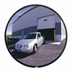 ZORO SELECT SCVIP-30T-VT Outdoor Convex Mirror,30 in dia,Acrylic