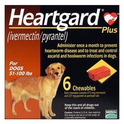 Heartgard Plus For Large Dog 23 To 45 Kg (Brown) 6 Chews